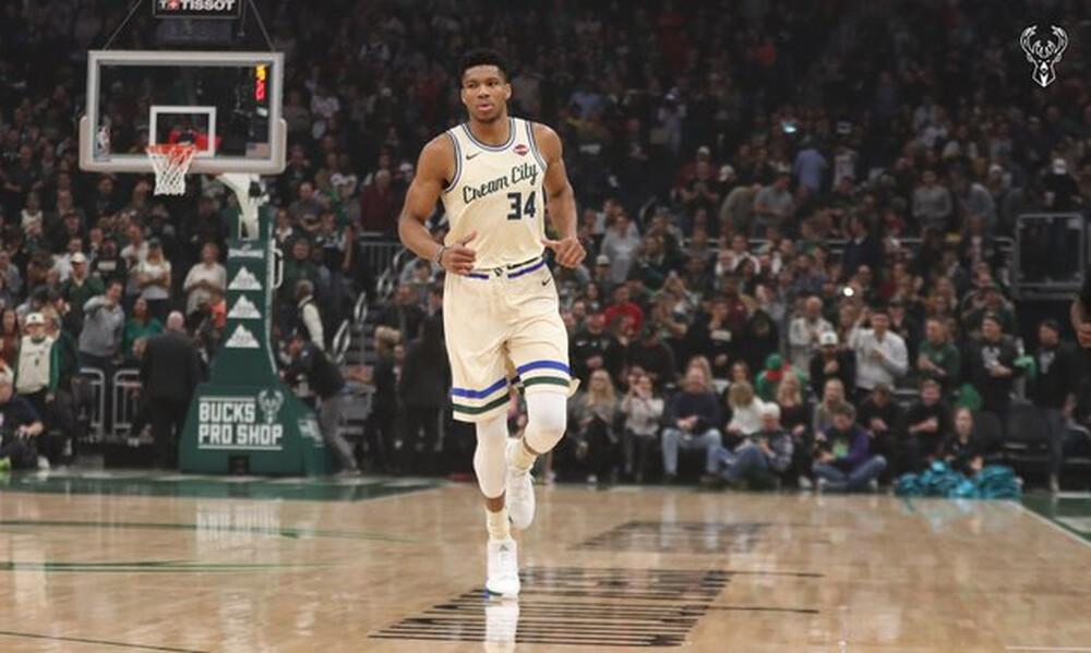Γιάννης Αντετοκούνμπο: Παίκτης της εβδομάδας στο NBA (photo+video)