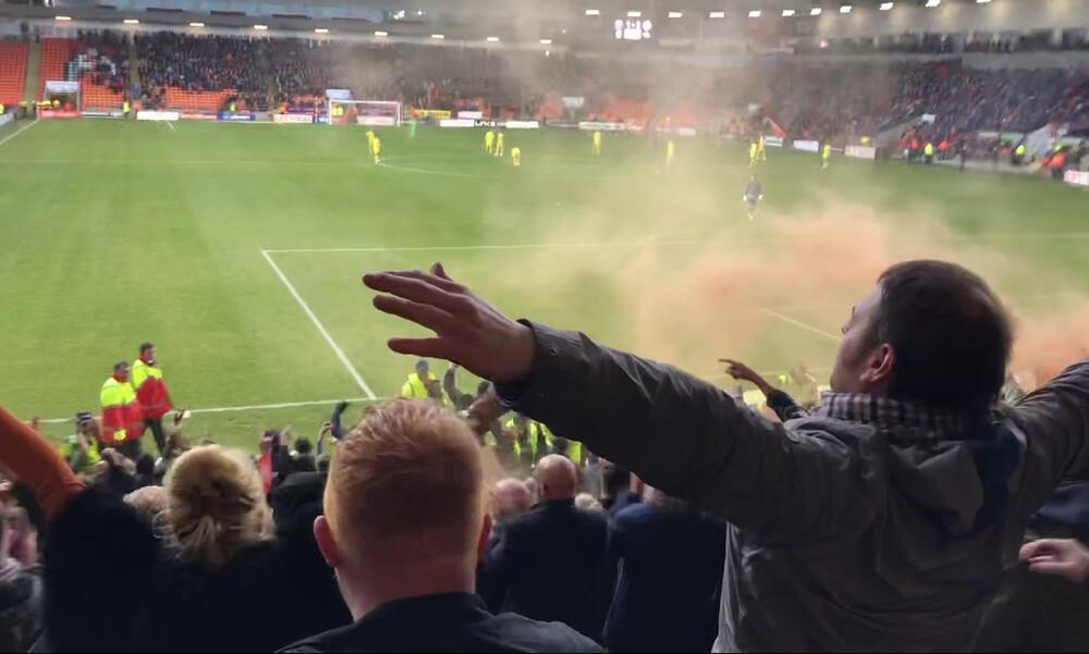 Αγγλία: Απίστευτα επεισόδια σε αγώνα για τη League 1 (video)