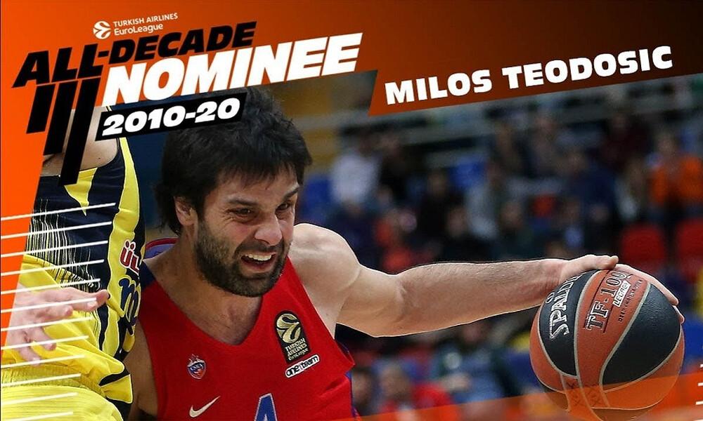 Euroleague: Τεόντοσιτς, ο νέος υποψήφιος για την ομάδα της 10ετίας (video)