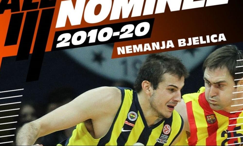 Euroleague: Ο Μπιέλιτσα υποψήφιος για την ομάδα της 10ετίας! (video)