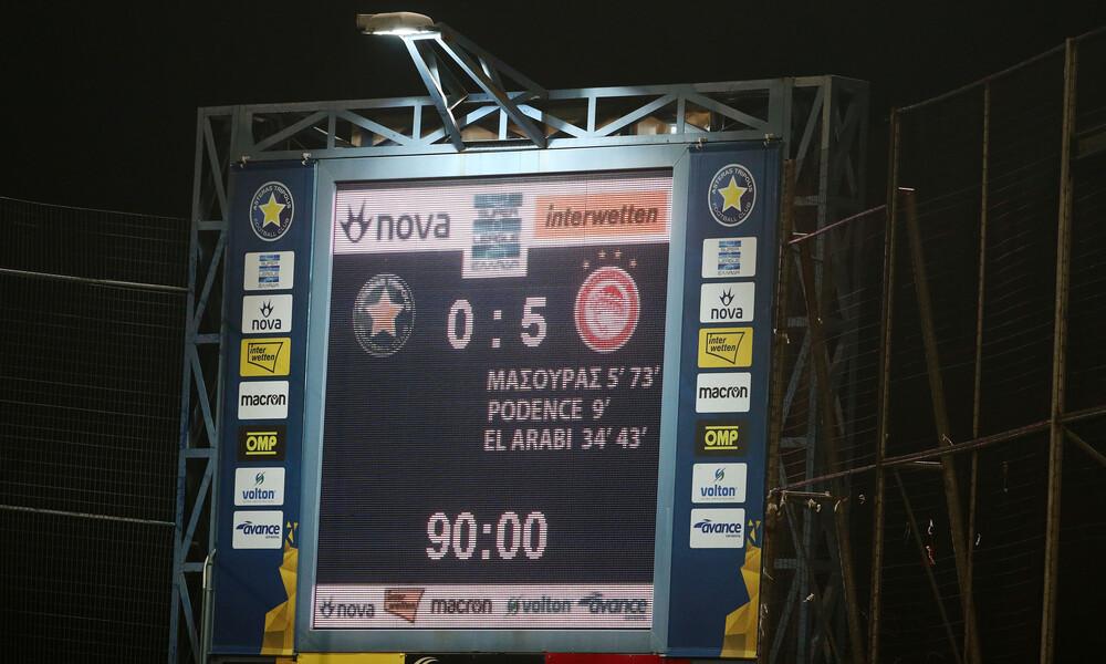 Αστέρας Τρίπολης-Ολυμπιακός 0-5: Η «ερυθρόλευκη» καταιγίδα στην Τρίπολη (video)