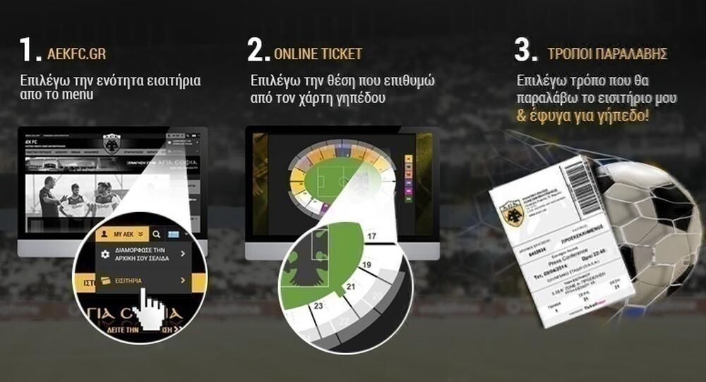 ΑΕΚ: Τα εισιτήρια με τον Αστέρα Τρίπολης