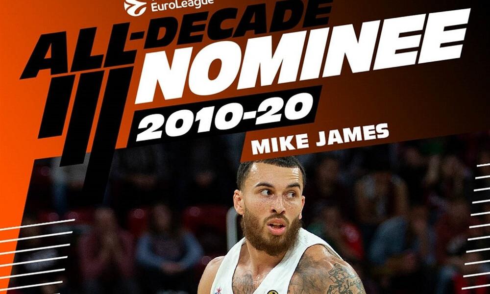 Euroleague: Ο Μάικ Τζέιμς υποψήφιος για την ομάδα της 10ετίας (video)