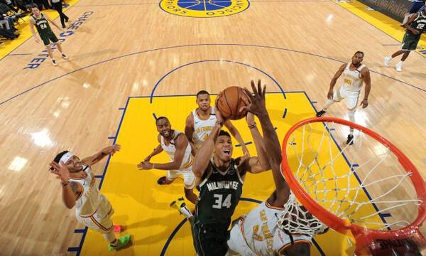 NBA: Πάτησε και τους Ουόριορς... ο Γιάννης με νέα 30άρα! (photos+video)