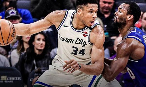 NBA: Νίκη για Μπακς, μέτριος ο Γιάννης (video)