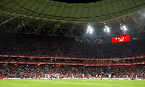 Οπαδοί του ΠΑΟΚ «σήκωσαν» πανό κατά Γκαρθία στο Μπιλμπάο! (photo)