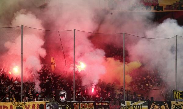 ΑΕΚ – Ολυμπιακός: Στις… φλόγες το ΟΑΚΑ για το ντέρμπι (video+photos)