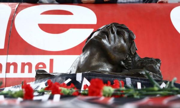 Ολυμπιακός: Τίμησε τα θύματα της Θύρας 7 πριν τον αγώνα με την Ξάνθη (video+photos)