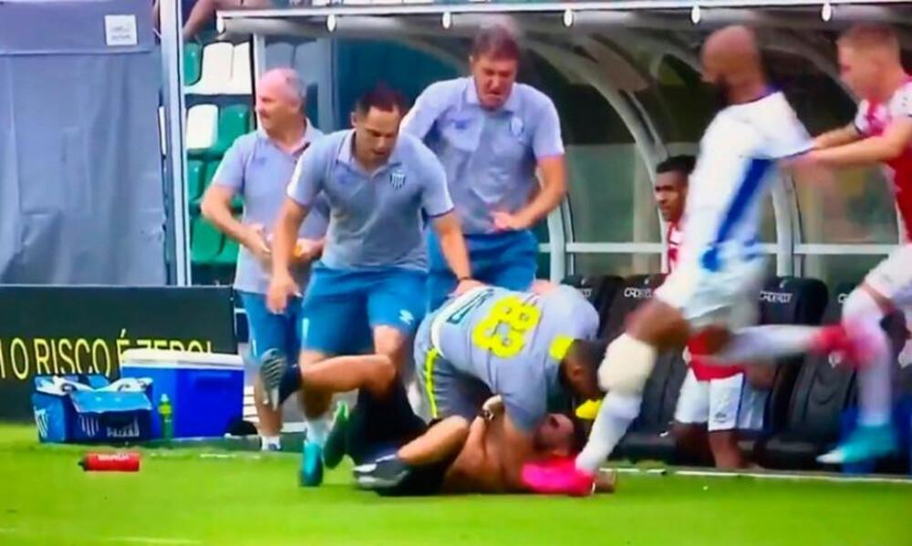 Ροκ καταστάσεις σε ματς στη Βραζιλία (video)