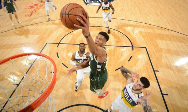 NBA: Η νέα φοβερή εμφάνιση του Αντετοκούνμπο (video)