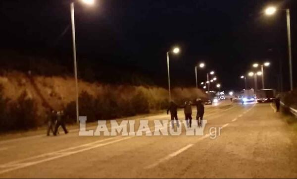 Τα επεισόδια στη Λαμία με οπαδούς της ΑΕΛ (photos+videos)