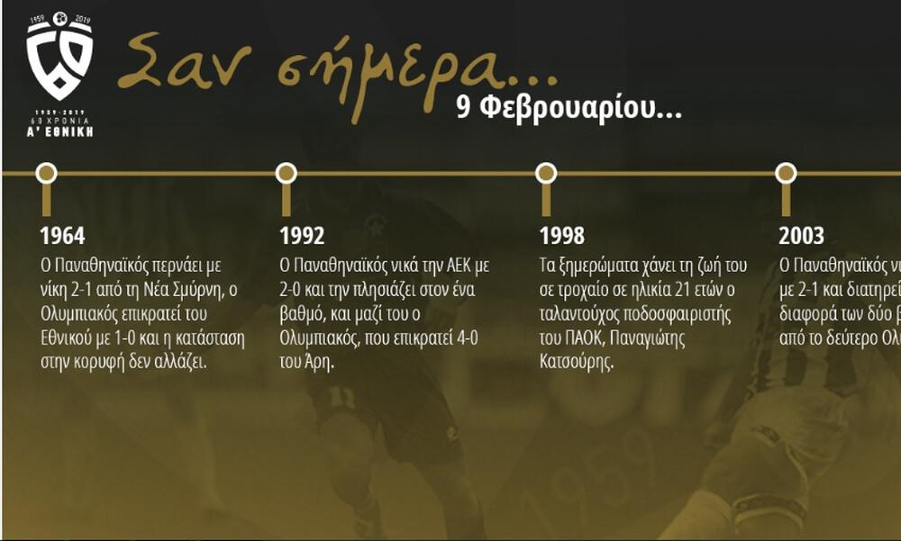 60 χρόνια Α' Εθνική: Σαν σήμερα, 9 Φεβρουαρίου