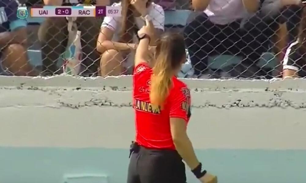 Επικό: Γυναίκα διαιτητής απέβαλλε οπαδό την ώρα του αγώνα (Video)