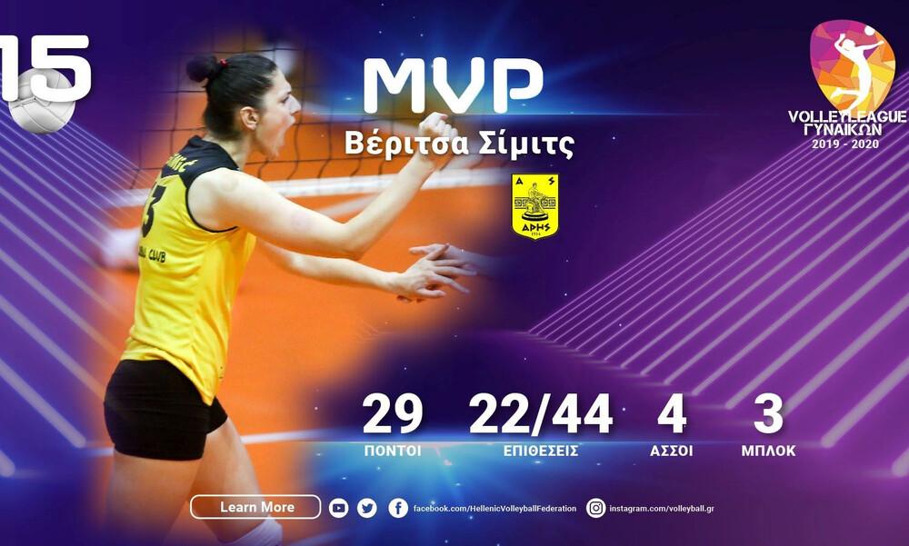 Η Βέριτσα Σίμιτς MVP της 15ης αγωνιστικής