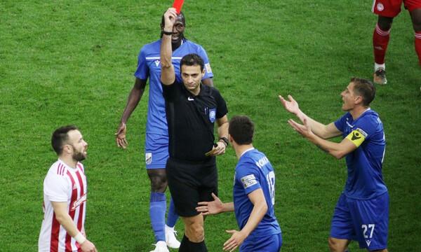 Ολυμπιακός-Λαμία 3-2: Η αποβολή του Ρόμανιτς και ο εκνευρισμός του Μάντζιου (video&photos)