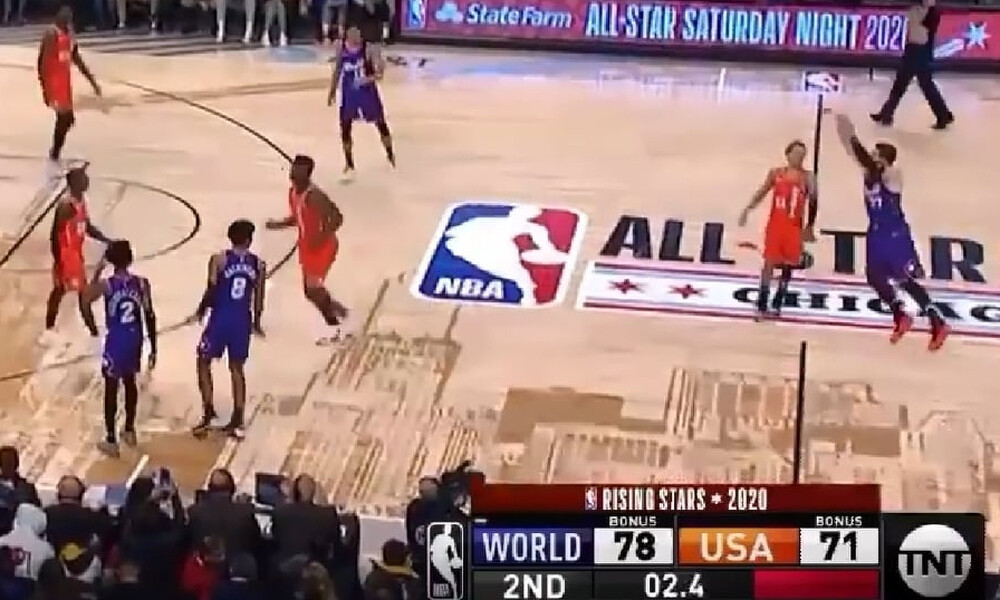 All Star Game: Το απίθανο καλάθι του Ντόντσιτς από το κέντρο! (photos+video)