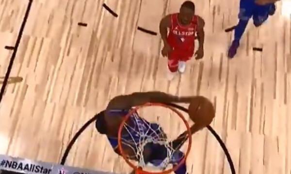 NBA All Star Game: Απίθανα καρφώματα από Λεμπρόν (video)