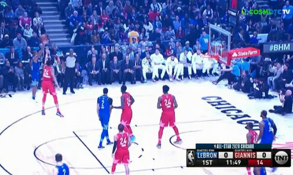 NBA All Star Game: Ξεκίνησε... καυτός ο Λέοναρντ (video)