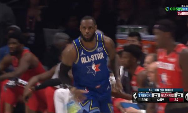NBA All Star Game: Το καλάθι του ματς από τον Λεμπρόν (video)