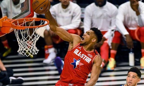 NBA All Star Game 2020: Τα καλύτερα του Γιάννη Αντετοκούνμπο (video)