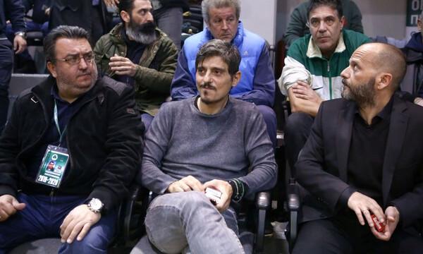 Παναθηναϊκός-Ολυμπιακός: Στο γήπεδο ο Δημήτρης Γιαννακόπουλος (video+photos)