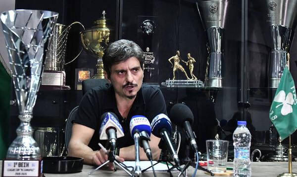 Παναθηναϊκός: Η συνέντευξη του Δημήτρη Γιαννακόπουλου σε εικόνες (photos)