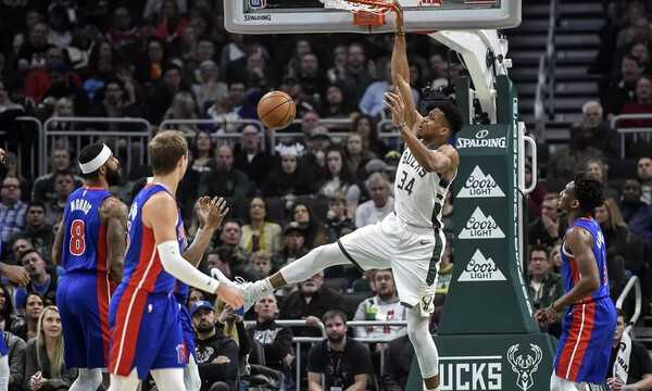 NBA: Απίθανες επιδόσεις από τον Γιάννη Αντετοκούνμπο!