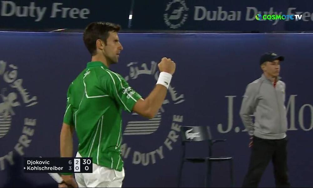 Άνετα στους «8» του τουρνουά του Ντουμπάι ο Τζόκοβιτς (video)