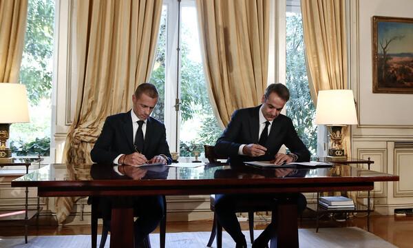 Η ενημέρωση της UEFA για την επίσκεψη του Τσέφεριν στην Αθήνα