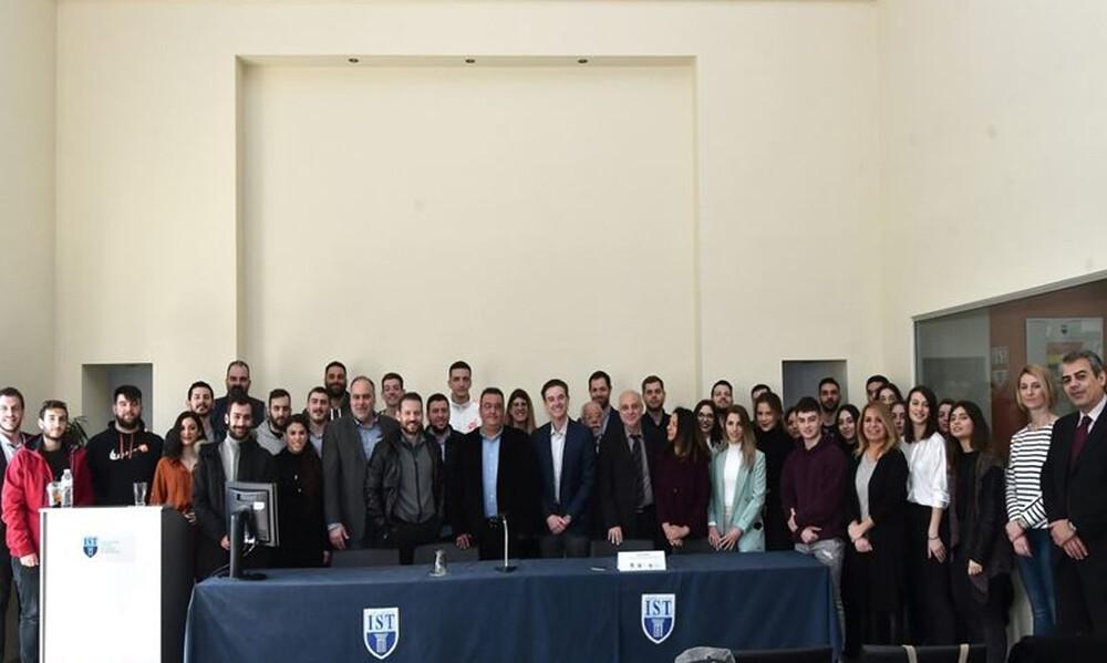 Ο Rick Pitino στο IST College με τους φοιτητές του προγράμματος MBA in Sports Management
