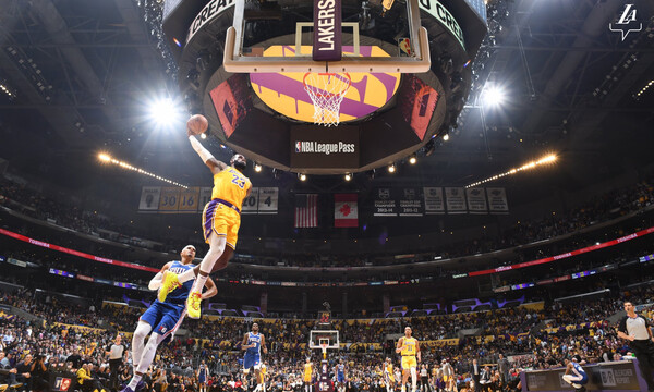 NBA: Νίκη για Λέικερς με σούπερ Ντέιβις και ΛεΜπρόν (videos)