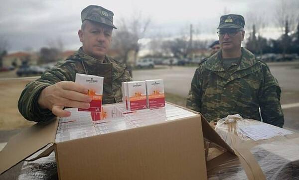 Έβρος: Έφτασαν τα προϊόντα της SUPERFOODS – Σπουδαία βοήθεια για τον Στρατό και την Αστυνομία