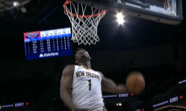 NBA: Απίθανος Ζάιον στο Top-10 (video)