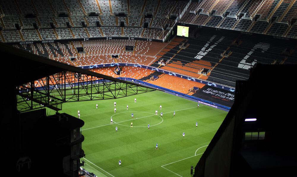 Champions League: Ο μοναδικός θεατής στο Μεστάγια (videos+photo)