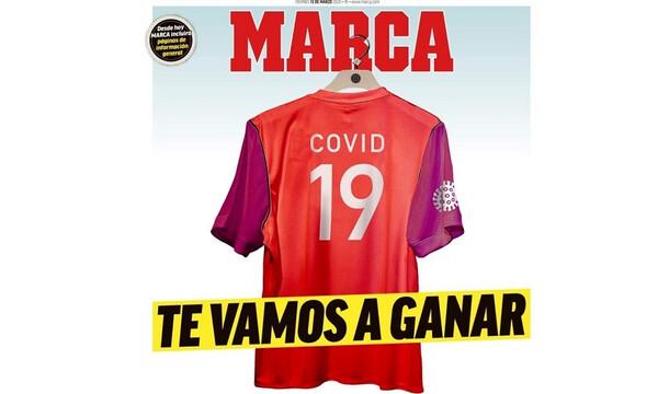 Το πρωτοσέλιδα της Marca για τον Κορονοϊό