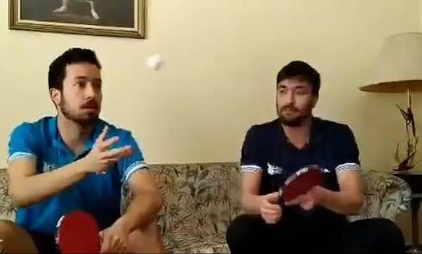 Αδερφοί Κωνσταντινόπουλοι: «Μένουμε σπίτι και... φανταζόμαστε ότι κάνουμε προπόνηση εδώ» (video)