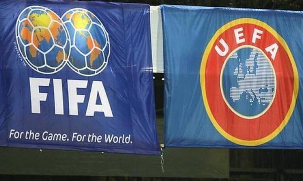 FIFA-UEFA: Ο καλός και ο κακός «μπάτσος» κι η μοναδική λύση της διακοπής