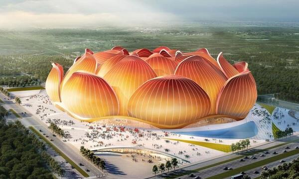 Γκουανγκζού Εβεργκράντε: Το πιο εντυπωσιακό γήπεδο κατασκευάζεται στην Κίνα (photos+video)