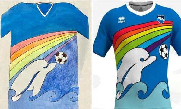 Συγκινητικό: Ομάδα στην Ιταλία θα φορέσει φανέλα που σχεδίασε 6χρονο αγοράκι!