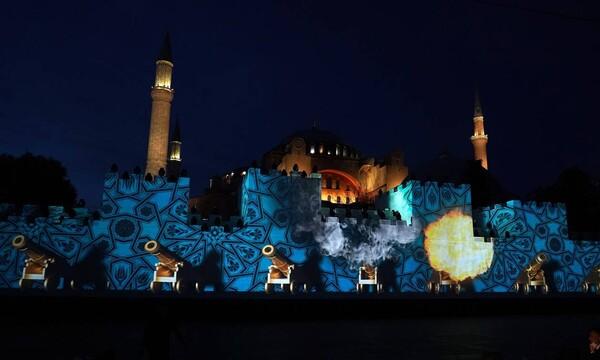 Το αίσχος των Τούρκων: Οργή της Ρωμιοσύνης για τη βεβήλωση της Αγιά Σοφιάς στην επέτειο της Άλωσης