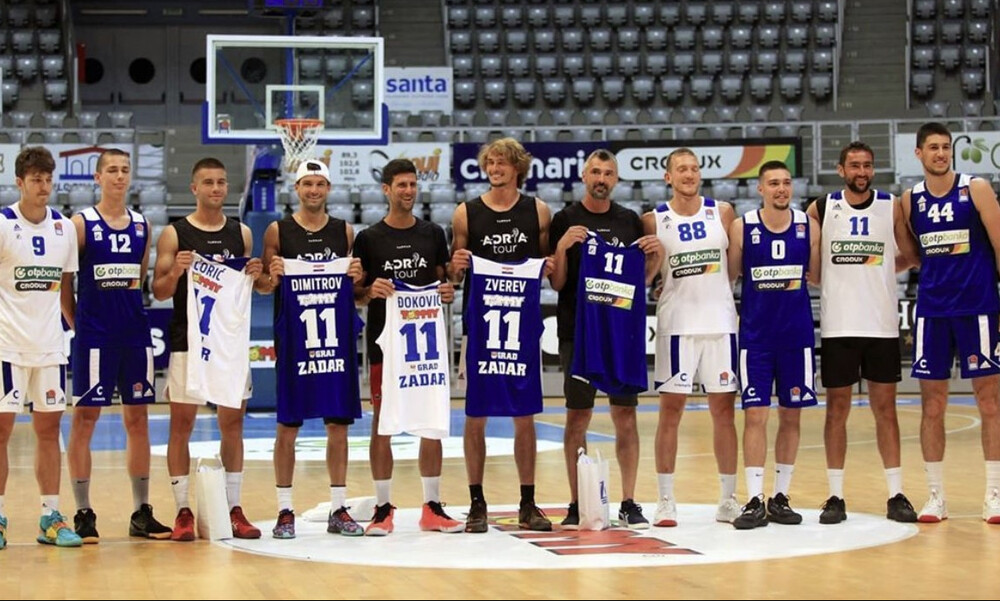 Έπαιξαν μπάσκετ με τη Ζαντάρ oι Τζόκοβιτς, Ζβέρεφ (videos+photos)