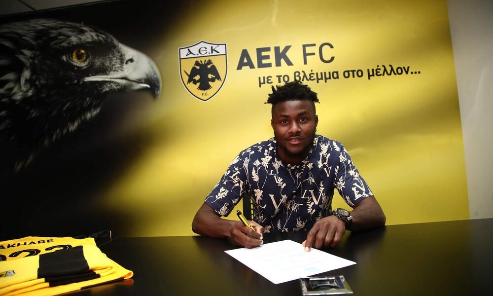 Οι πρώτες στιγμές του Ενομπακάρε στην ΑΕΚ: «Το γήπεδο θα 'μιλήσει' για μένα»