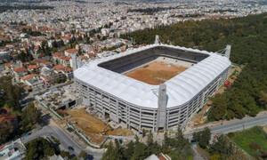 ΑΕΚ: Παρακολουθεί τις εργασίες στο γήπεδο ο Δ. Μελισσανίδης