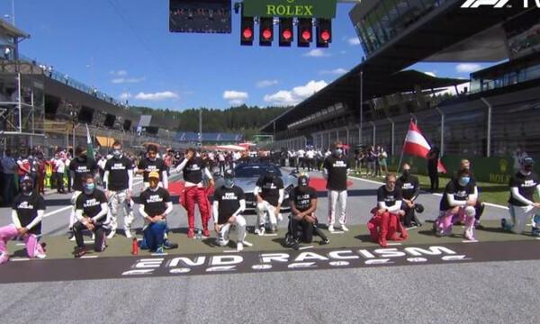 F1: Το μήνυμα των «πιλότων» για τον ρατσισμό (video)