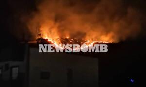 Φωτιά ΤΩΡΑ: Μεγάλη πυρκαγιά στο Πέραμα
