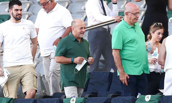 Παναθηναϊκός-ΑΕΚ: Στο γήπεδο ο Αλαφούζος! (photos)
