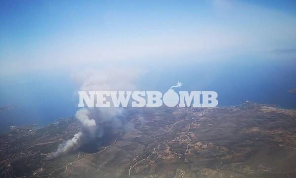 Φωτιά στο Λαύριο: Μεγάλη μάχη με τις φλόγες - Εκκενώνονται τέσσερις οικισμοί