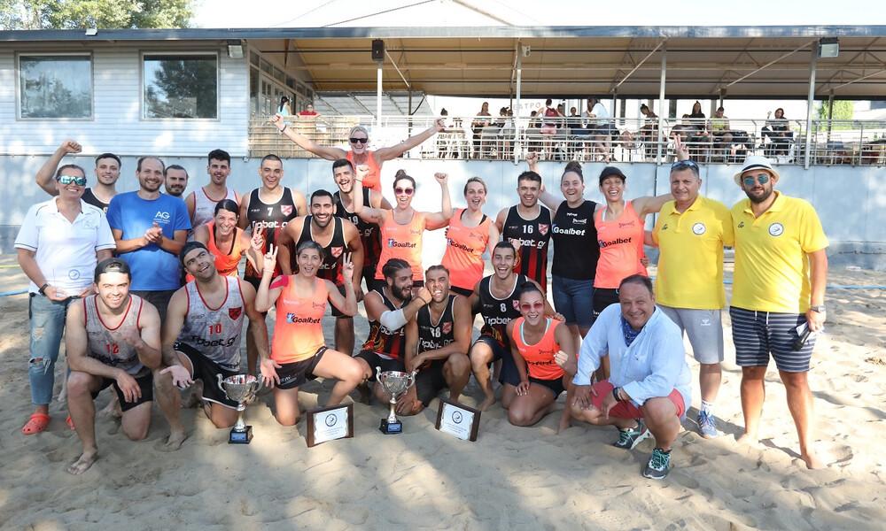 Νταμπλούχοι Απόλλων και Σπάρτακος στο Beach Handball