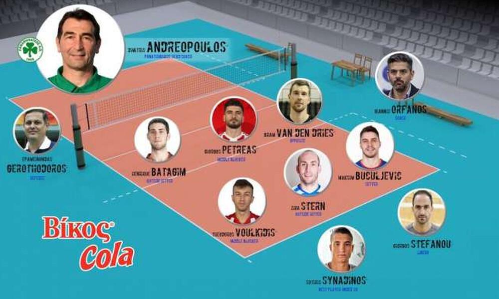 Οι επιλογές του Δημήτρη Ανδρεόπουλου για την κορυφαία ομάδα της Volley League 2019-20