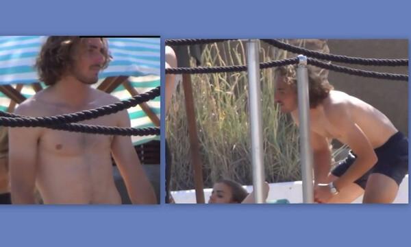 Η απίστευτη χειρονομία του Τσιτσιπά στους παπαράτσι της Μυκόνου! (Pics-Vid)